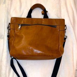 Leather Coach Laptop Messenger Bag